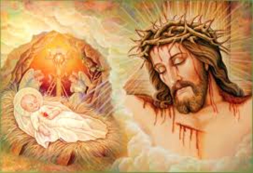 From Birth to death and resurrection, he was perfect and never sinned, in order to free his people fro their sins and then his blood was backdated to the foundations of the World.