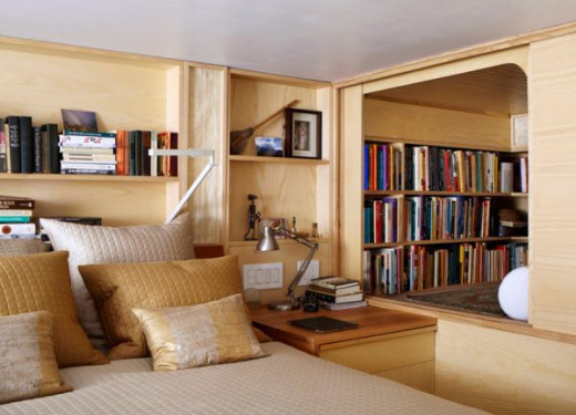 In a tiny space such as this one, it's hard to imagine where you would put a TV.