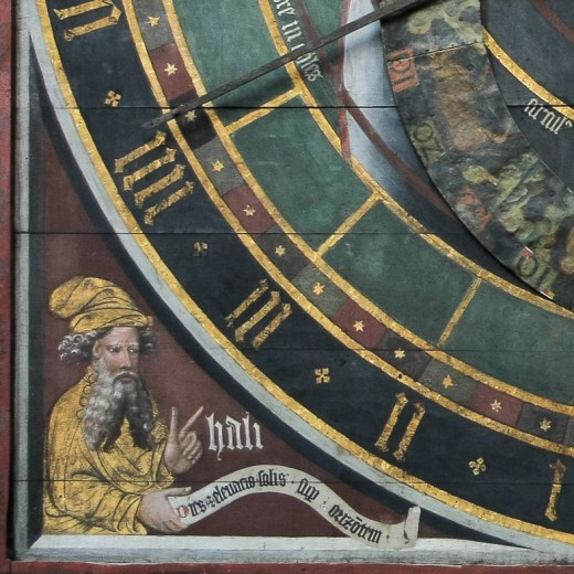 Ali ibn Ridwan depicted on the Astronomic Clock in the Nikolaikirche.