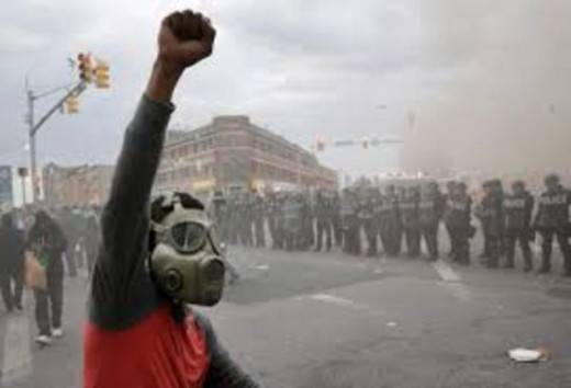 Reaction To Decades Of Poverty, Neglect and abusie by Police When Africans in Baltimore Exploded