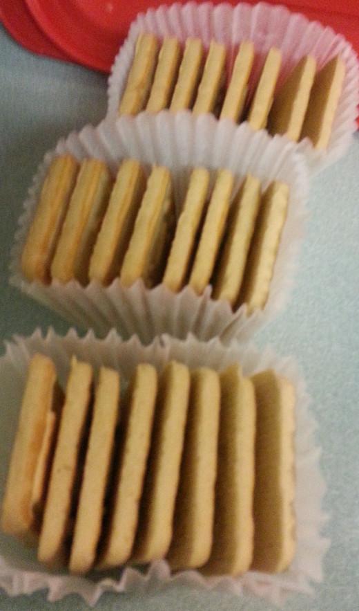 Pepperidge Farm Chessmen Cookies - three paper cups filled of cookies in each package