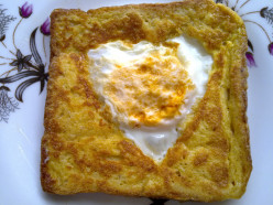 Heart Shaped Egg Toast