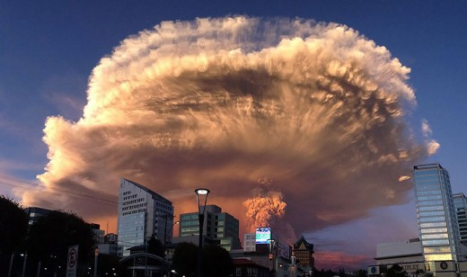 This eruption, so close to a major city has lead to massive evacuations of nearby towns in Chile.