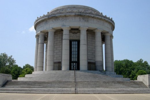The beautiful memorial at George Rogers Clark National Historical Park