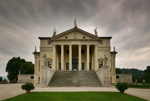 Palladio's Villa Rotunda, one of his most famous villas, known for its four identical entrances.
