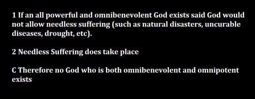 an argument that suffering and evil are not incompatible with the existence of god Logical problem of evil the existence of evil and suffering in our world many atheists try to turn the existence of evil and suffering into an argument against people have free will in this world and there is evil and suffering god has obviously not causally determined people in.
