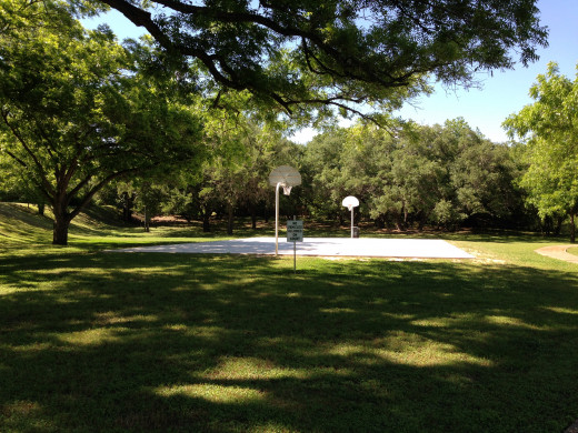 Basketball Courts at Sullivan Park Onion Creek Austin TX