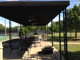 Onion Creek  covered pavilion at Tennis Courts Austin TX