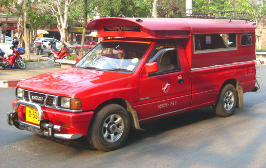 Songthaew shared taxi