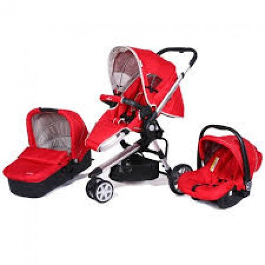 Look for three in one prams that have the car seat and carry cot with it so that you can save some money