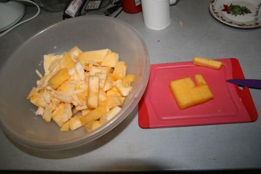 Optional: Cut the pumpkin and roast it!