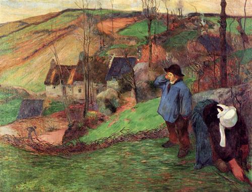Gauguin- Landscape of Brittany- 1888