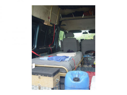 A normal bed in my van
