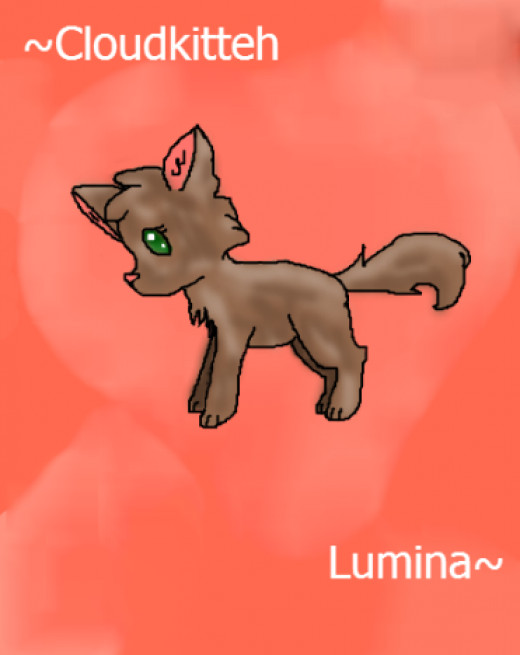 Lumina the brown wolf