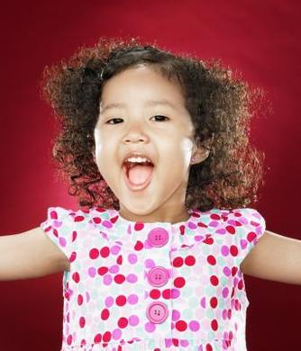 A child singing