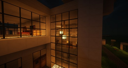 Almost looks like a real world apartment right? Nope it's Minecraft blocks, but it still looks great