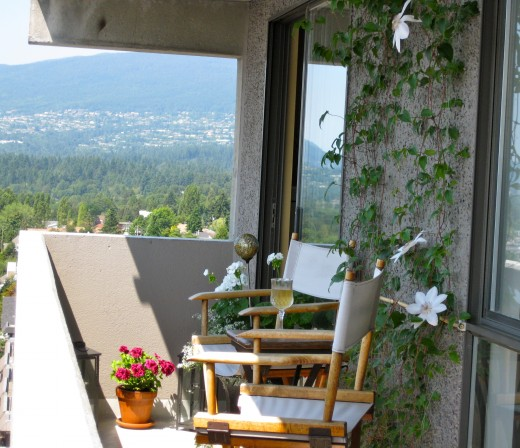 Never use your balcony for storage.  It needs to be a peaceful place of rest & enjoyment.  This means that it needs to stay clutter-free.