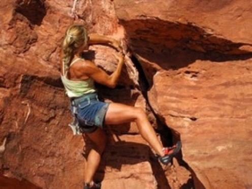 Some of the best rock climbers are women.