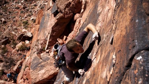 Matthew Vaughn, another competitive rock climber.