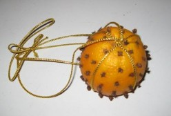 Clove Pomander, hang to help respiratory issues, air freshner and bug repellant