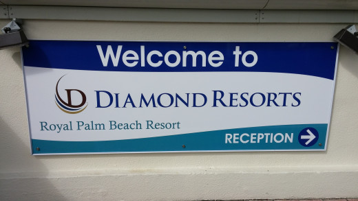 Diamond Resort Sign