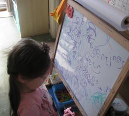 Words; talking, then letters & spelling