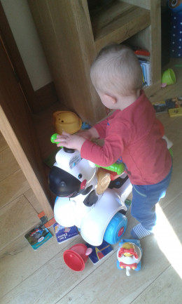 Learning to stand, with help