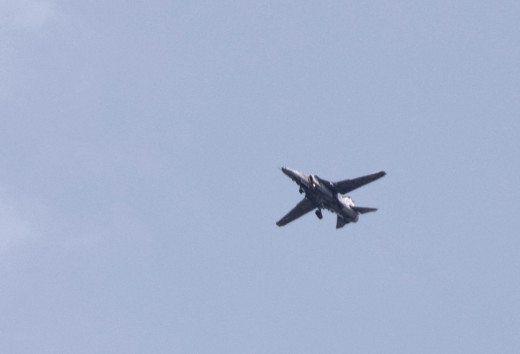 The majestic flight of an IAF fighter jet over Hollong