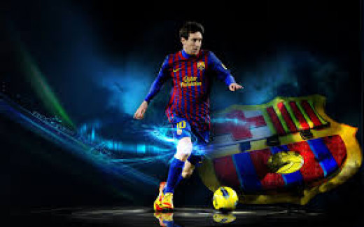 Leo Messi in action.