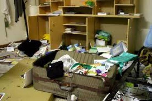 horrifying sight of untidy house.