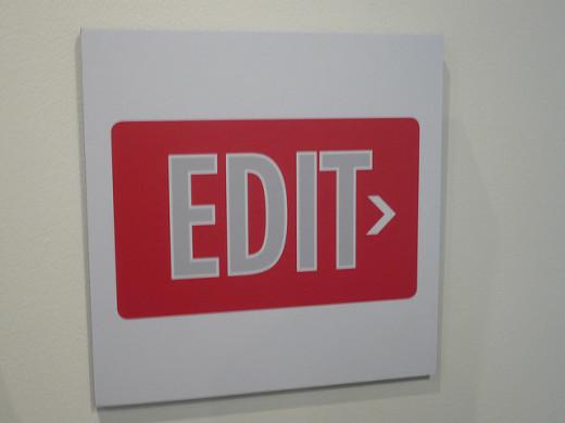 Don't exit, edit