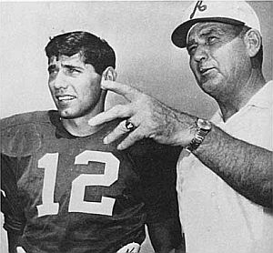 "Two legends: Joe Namath and Paul ""Bear"" Bryant."