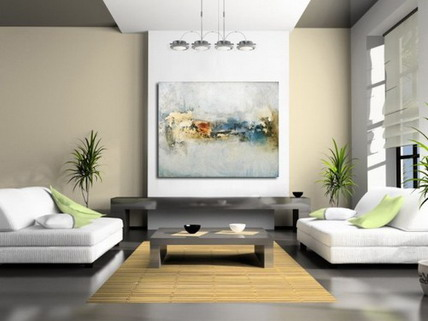 Beautiful Painting in the Living  Room for House Plan design