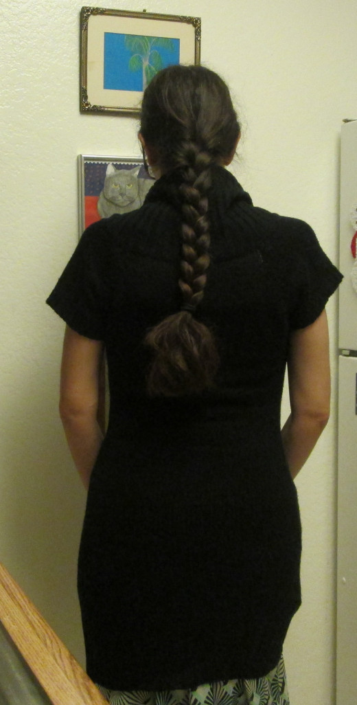 Wearing my long hair in a braid.