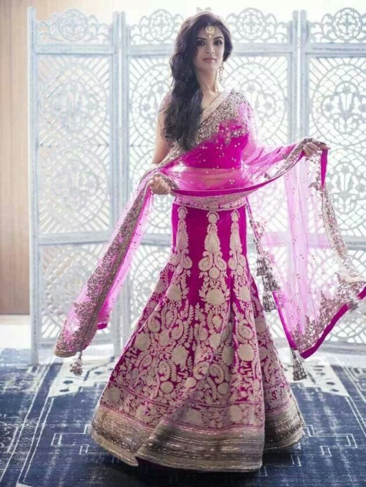 "Bridal lehenga by Manish Malhotra (photo added for ""Annie"" )"
