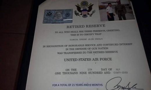Julian Gonzales, retired service member.