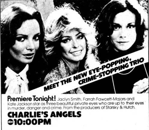 Original TV Guide ad for the debut of Charlie's Angels