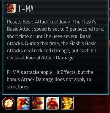 Flash special attack #2; F=MA