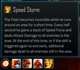 Flash special attack #4; Speed Storm
