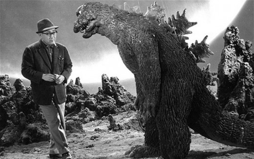 Godzillas size has changed over the years but he is usually bigger than this
