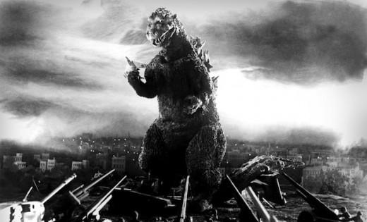 Godzilla ruining the city as usual