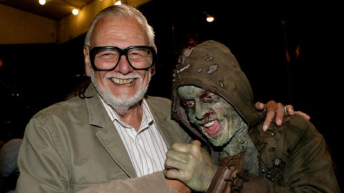 George with a zombie