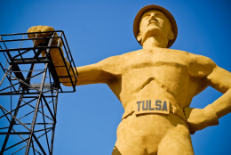 (76' Tall Golden Driller @ Expo Square)