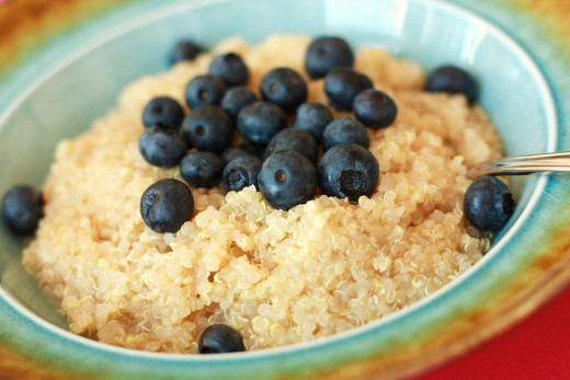 Quinoa can be eaten at breakfast in the same ways as porridge or oatmeal.