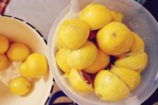 Halved Lemons for Cleaning