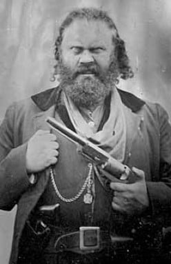 The only known photo of Black Bart.