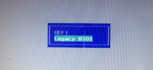 UEFI and Legacy modes