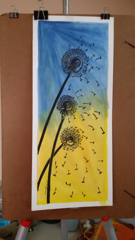 Dandelions to feel through my painting brushes:-)
