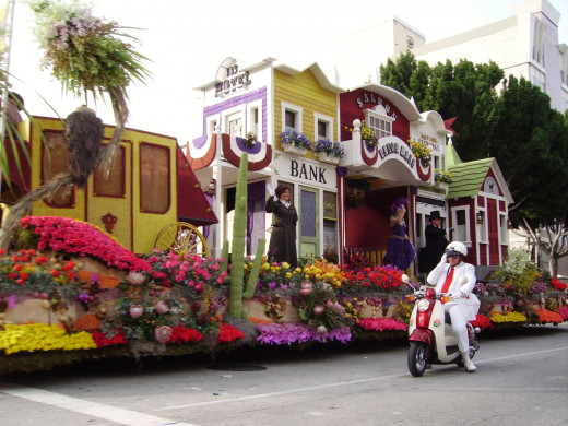 Every square inch of all floats in the Tournament of Roses Parade must be covered by natural material of some kind.