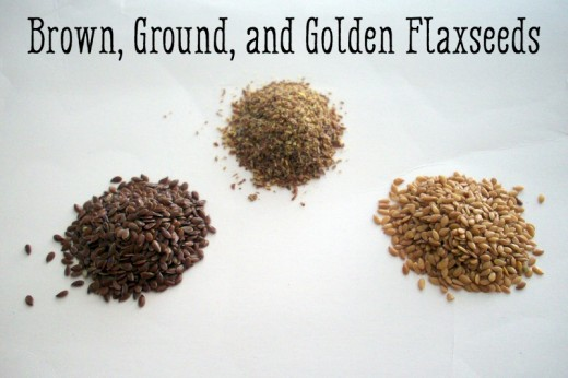 Brown, Ground, and Golden Flaxseed